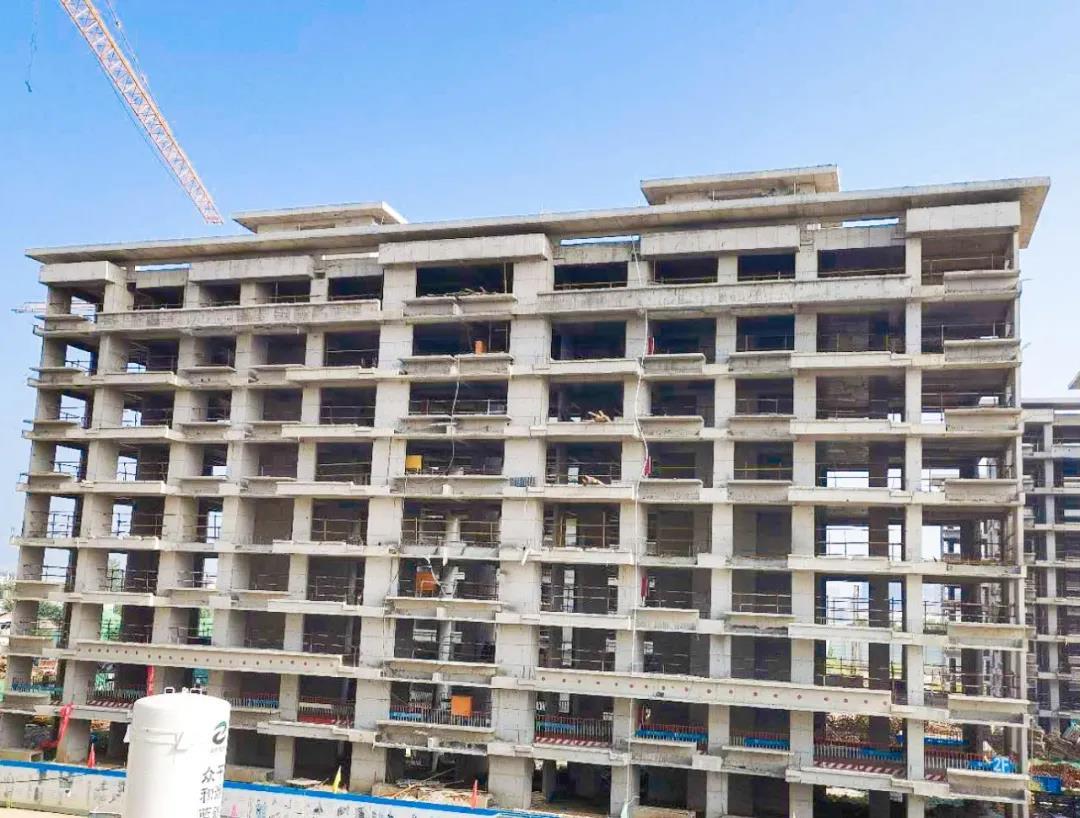 7#楼主体完成,外架拆除完成,待砌体砌筑